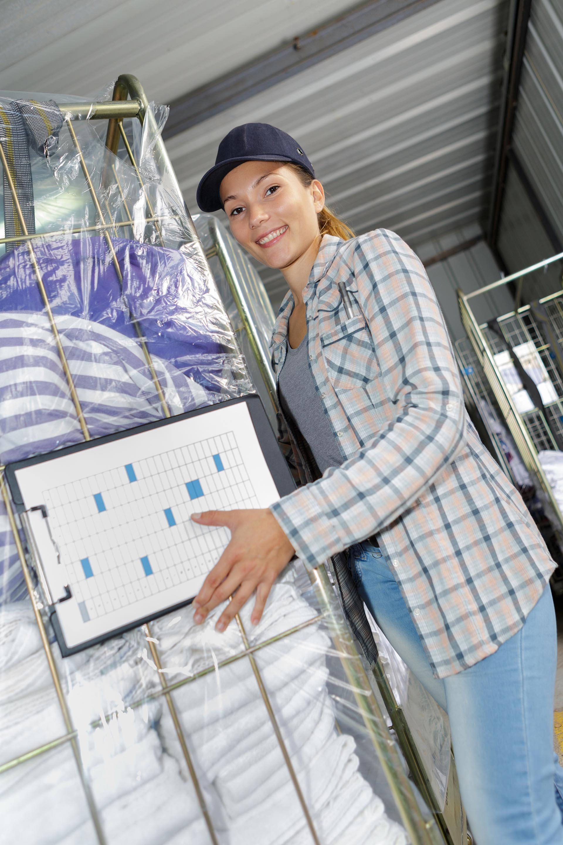 Healthcare Linen Services Group laundry delivery woman