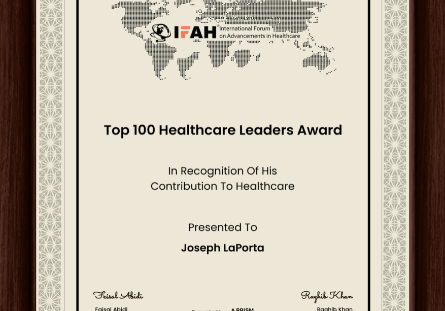Joseph LaPorta Top 100 Healthcare Leaders Award